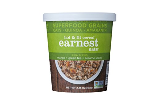 Earnest Eats Vegan & Wheat-Free Hot Cereal with Superfood Grains, Quinoa, Oats and Amaranth – Asia Blend – Single Serve Cups (Pack of 12)