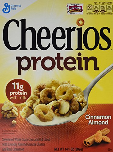General Mills Cereals Cheerios Protein Cereal, Cinnamon Almond, 14.1 Ounce