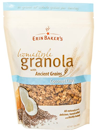 Erin Baker's Homestyle Granola, Coconut Chia, 12-Ounce Bags