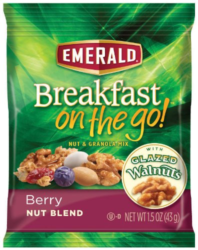 Emerald Breakfast on the Go! Blend and Granola Mix, Berry Nut, 7.5 Ounce