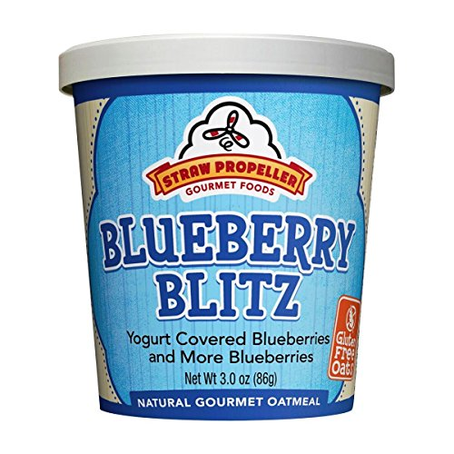 Straw Propeller Gourmet Foods Natural Gourmet Oatmeal, Blueberry Blitz, 3.5 Ounce (Pack of 12)