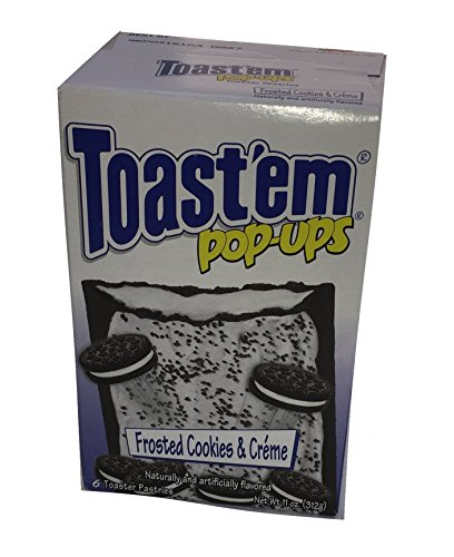 Toast Em Pop Ups Breakfast Toaster Pastries Cookies and Creme Flavored