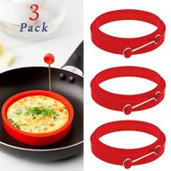 Silicone Small Egg & Pancake Ring Molds – 4 Inch Diameter – Set of 3 – Non Stick – Bpa-free – Multi Use Cookware for Skillets, Frying Pans, Griddles and BBQ (3 Pack)