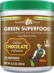 Amazing Grass Chocolate Drink Powder, Green Superfood, 8.5-Ounce Container