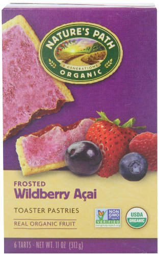 Nature's Path Organic Frosted Toaster Pastries, Wild Berry Acai, 11 Ounce