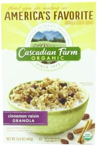 Cascadian Farm Granola Cereal, Cinnamon Raisin, 15.6 Ounce