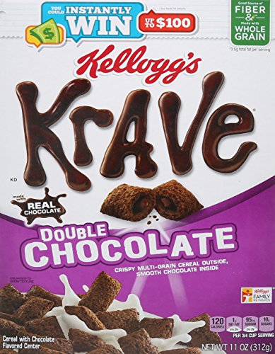 Kellogg's Krave Double Chocolate Cereal, 11 Ounce