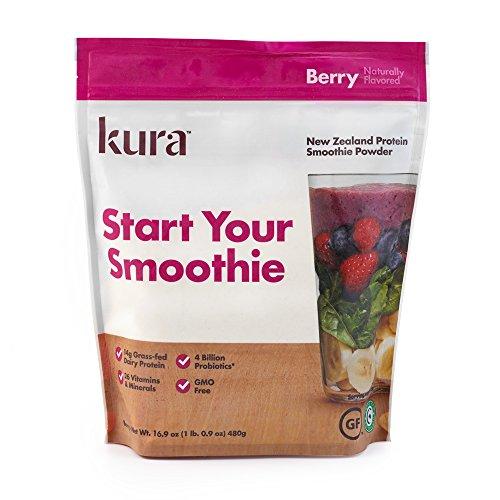 Kura Protein Smoothie Powder – Berry, 16.9 Ounces