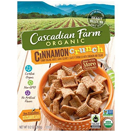 Cascadian Farm Organic Cereal, Cinnamon Crunch,9.2 Ounce
