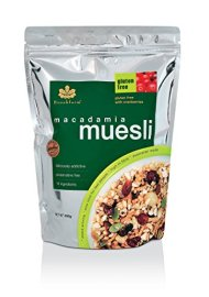 Brookfarm Gluten-Free Macadamia Muesli, Cranberry, 10.6 oz (300g)