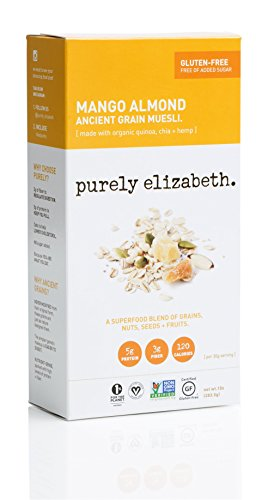 Purely Elizabeth Ancient Grain Organic Muesli, Mango Almond, 10 Ounce