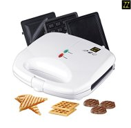 ZZ S61421-W 3 in 1 Sandwich Waffle and Breakfast Maker with Non-stick Plates, White