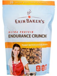 Erin Baker's Ultra Protein Endurance Crunch, Peanut Butter Cluster Granola, 12-Ounce Bags (Pack of 6) – Packaging May Vary
