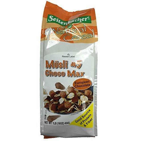 Seitenbacher Musli, #5 Choco Max, 16-Ounce (Pack of 6)