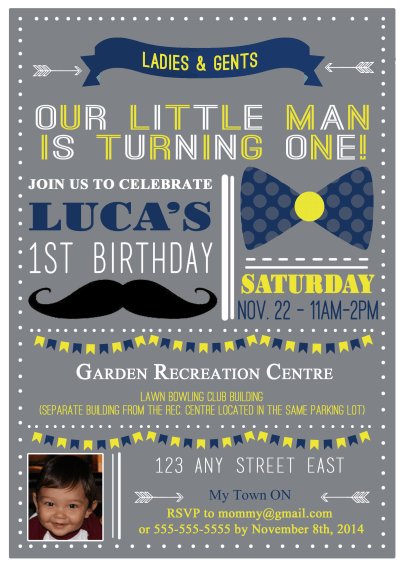 Little man birthday party