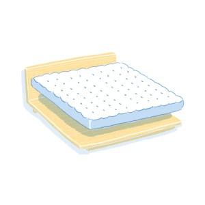 眠豆腐床架+床墊組合|雙人加大