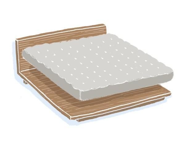 芝麻豆腐胡桃木床架+床墊組合 雙人加大