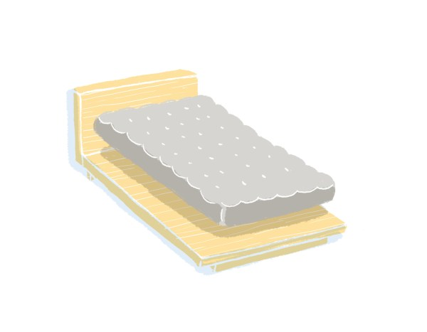 芝麻豆腐床架+床墊組合|單人加大