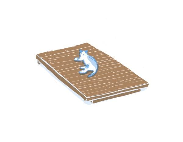眠豆腐胡桃木床架(無床頭板)|單人加大
