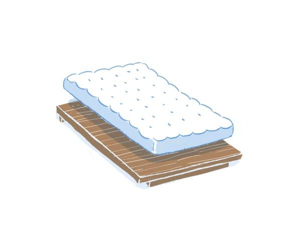 眠豆腐胡桃木床架+床墊組合(無床頭板)|單人加大