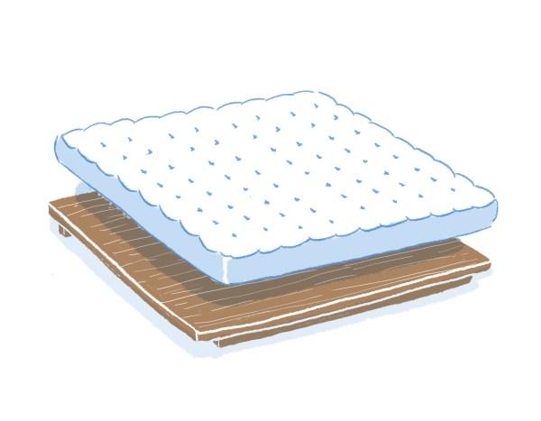 眠豆腐胡桃木床架+床墊組合(無床頭板)|雙人加大