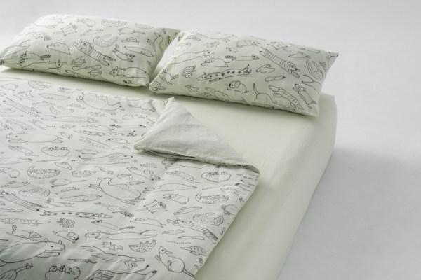 雙層紗/床包+枕套+被套/標準雙人