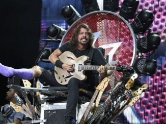 Dave Grohl sits upon his throne!