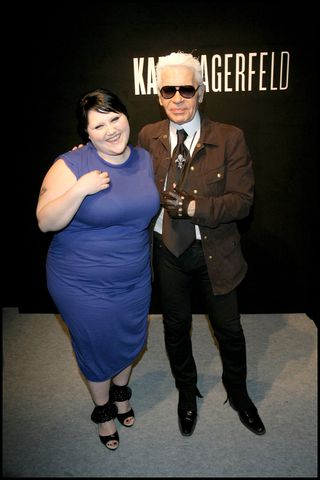 Beth Ditto and Karl Lagerfeld
