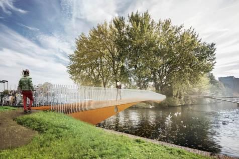 visualisatie brug nabij Zijlpoort