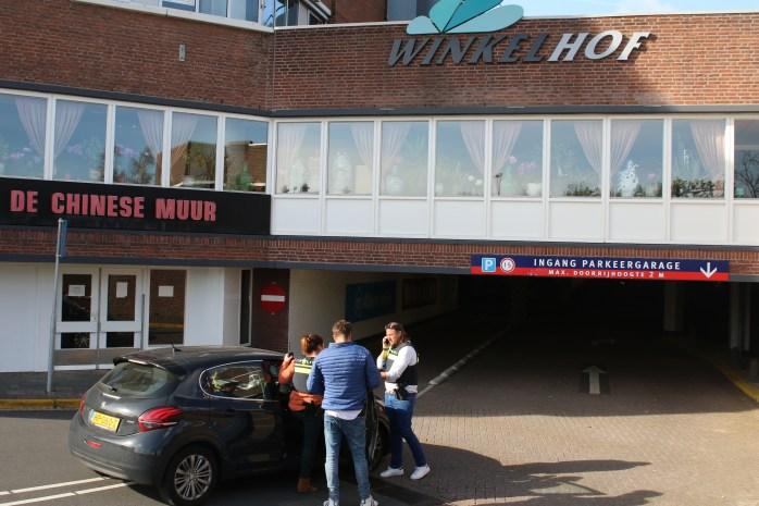 Veel politie op de been na Allahu Akbar geschreeuw, Winkelhof in Leiderdorp