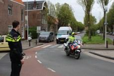 Straat afgezet vanwege flink gaslek, Leuvenstraat in Leiden