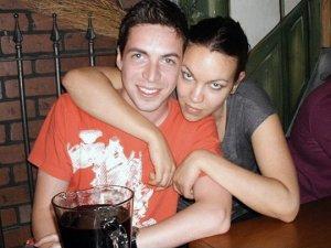 Steven Levithan and Juliana Buhring at a bar