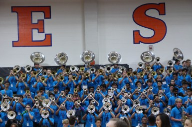 Band performs for the 9/7/18 pep rally.