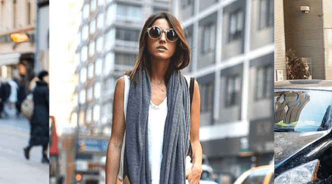 Slice of Dubai - Stylish ways to carry your scarves in cool dubai weather