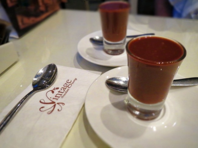 Chocolate Shots at Vintage Chocolate Lounge