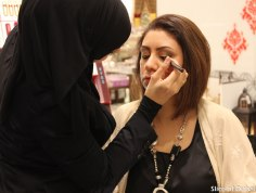 Maryam Ensan of Style Me Journal getting a makeover at Lifestyle Beauty Festival