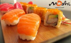 Salmon and Tuna Nigiri and Crunchy California