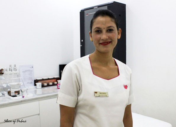 Masseuse Manju at the white room beauty and spa