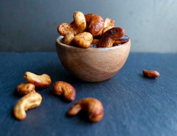 Chili Lime Roasted Cashews - Slice Of Honey Blog