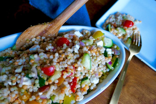 Market Couscous Salad - Slice Of Honey Blog