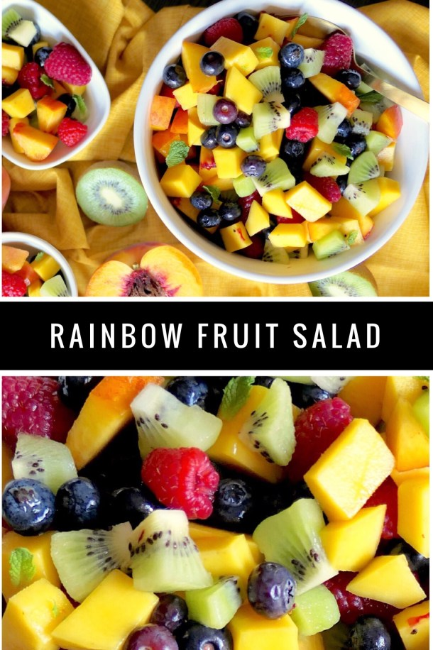 Rainbow Fruit Salad - Slice Of Honey Blog