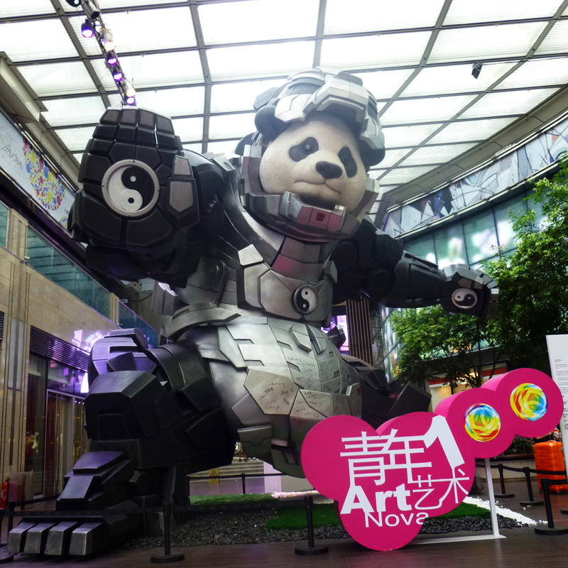What is with HK's obsession with giant statues and pandas?!