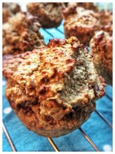 banan daddel muffins, glutenfri