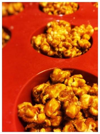 popcorn caramel kugler, nemmme at lave, no bake