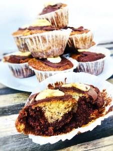 Banan Chokolade Muffins / lækre / nemme / luftige / svampede