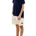 Calção RASGO Branco, Polo PIQUÉ Azul Marinho - Junior
