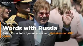 Image result for Putin says 'genius musician' Elton John mistaken on Russia LGBT rights