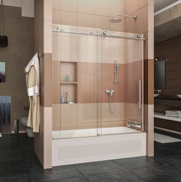 DreamLine Enigma Frameless Sliding Tub Door,