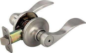 Legend 809121 US15 Lever Handle Privacy Locket, Satin Nickel Finish,Bedroom Door Lock