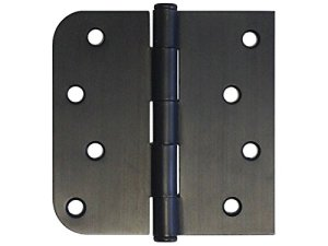 Straight, Square Corner Round Radius Exterior Door Hinge Oil Rubbed Bronze